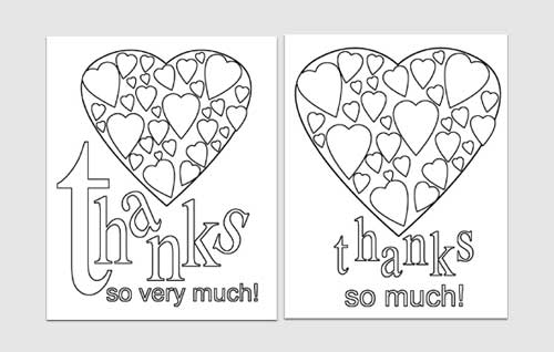 Easy Printables Thank You Card Templates Blissfully Domestic