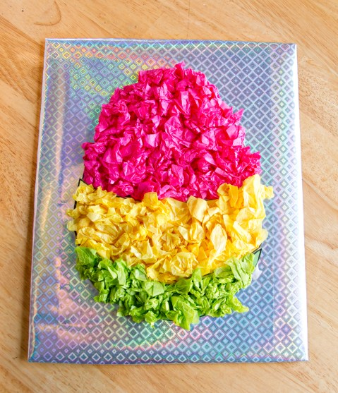 Easter Egg Tissue Paper Crafts Easter Craft Kinder
