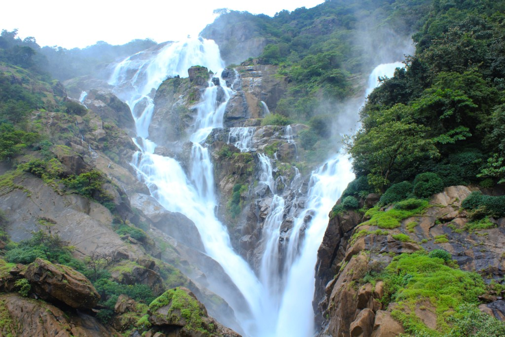 Athirapally Falls Wallpapers Ride To Castlerock And Train Spotting At Dudhsagar Falls