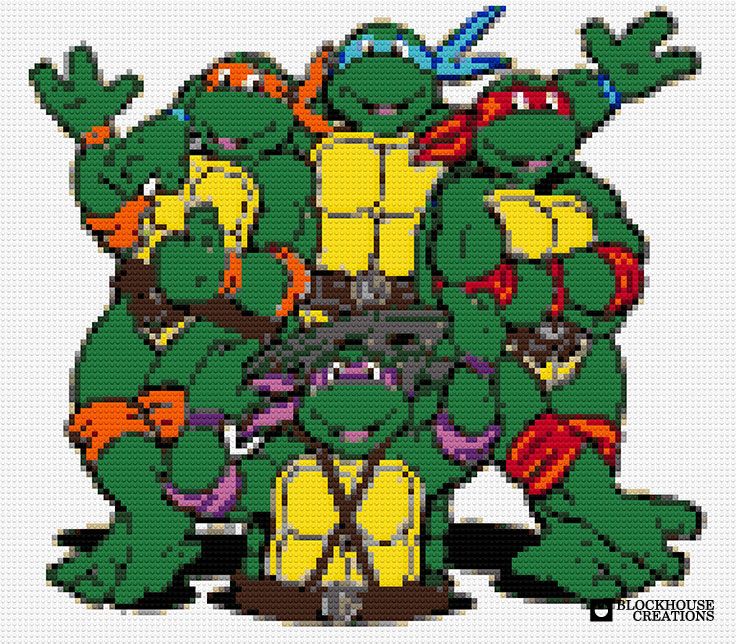 100 Days of Mosaics – Day 22 – Cowabunga