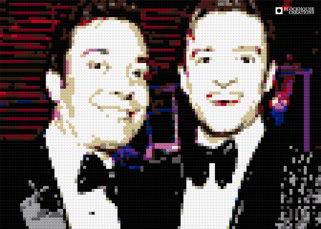 100 Days of Mosaics – Day 38 – Jimmy Fallon and Justin Timberlake