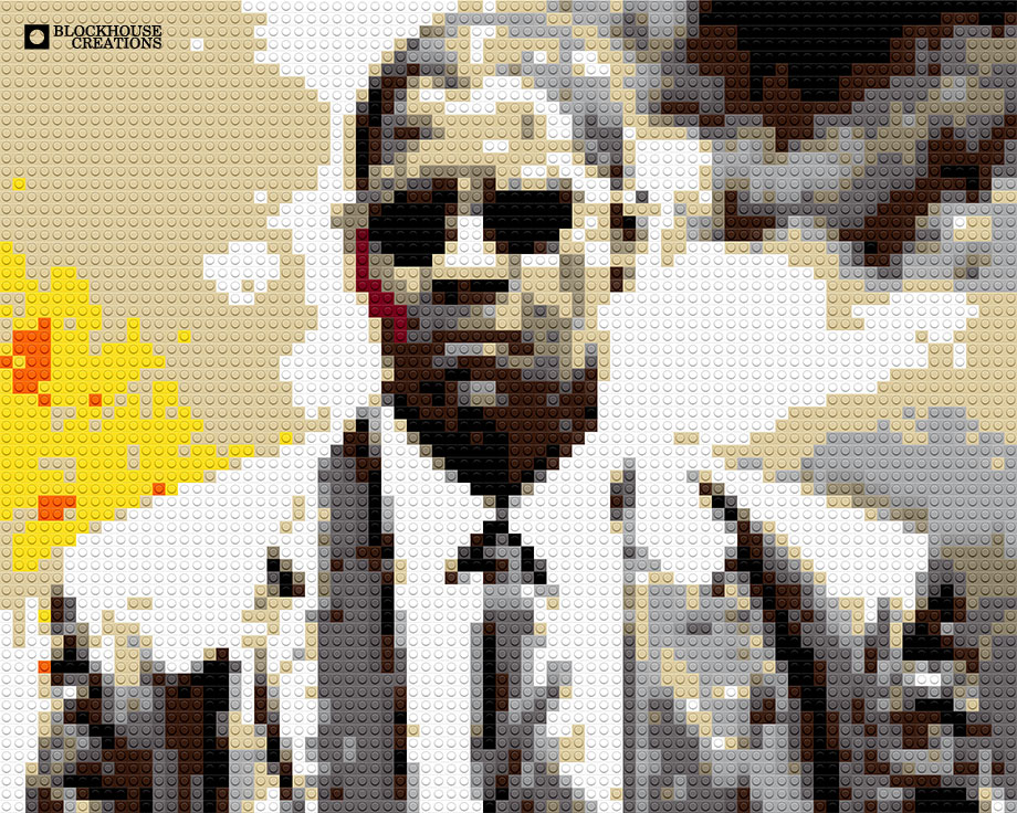 100 Days of Mosaics – Day 39 – Denzel Washington