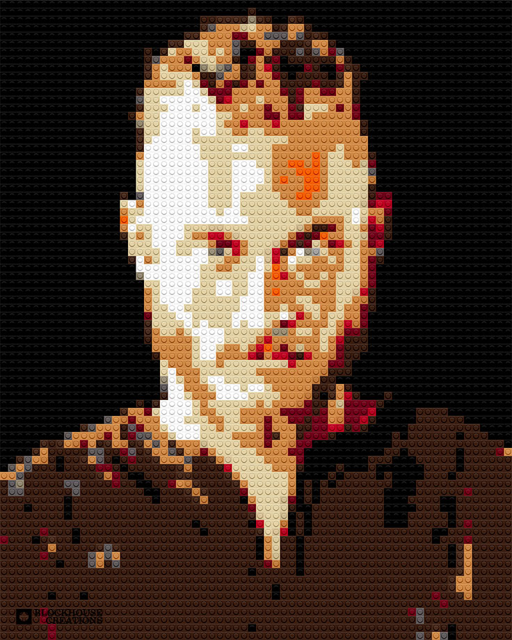 100 Days of Mosaics – Day 52 – Travis Fimmel as Ragnar Lothbrok