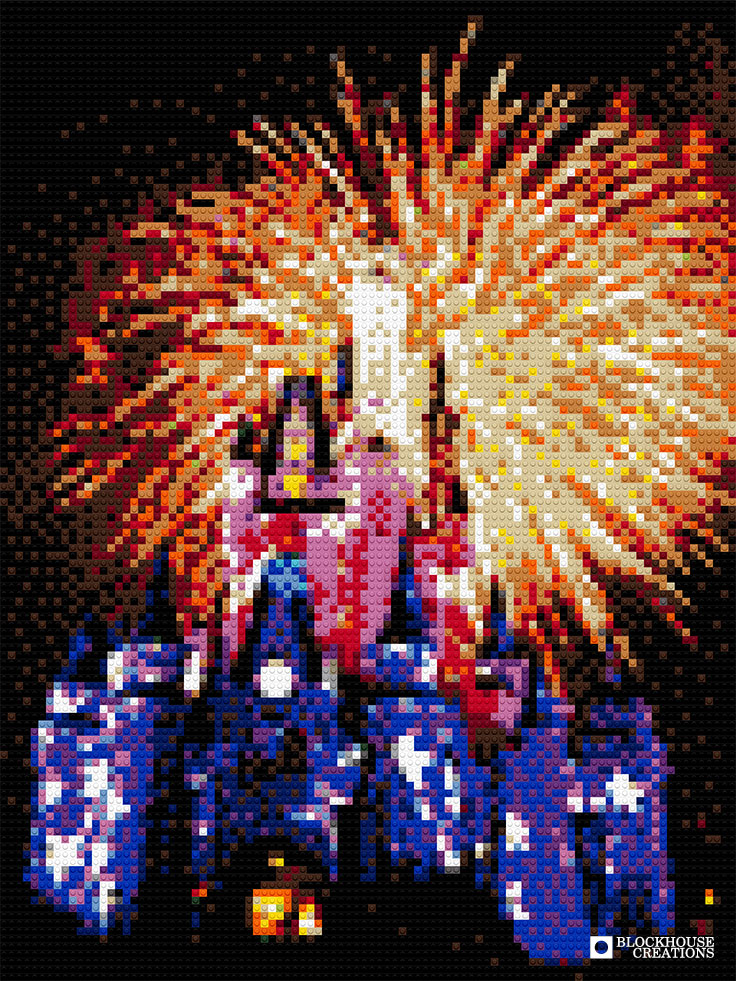 100 Days of Mosaics – Day 73 – Disneyland Fireworks