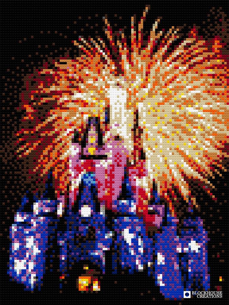 100 Days of Mosaics – Day 73 – Disneyland Fireworks