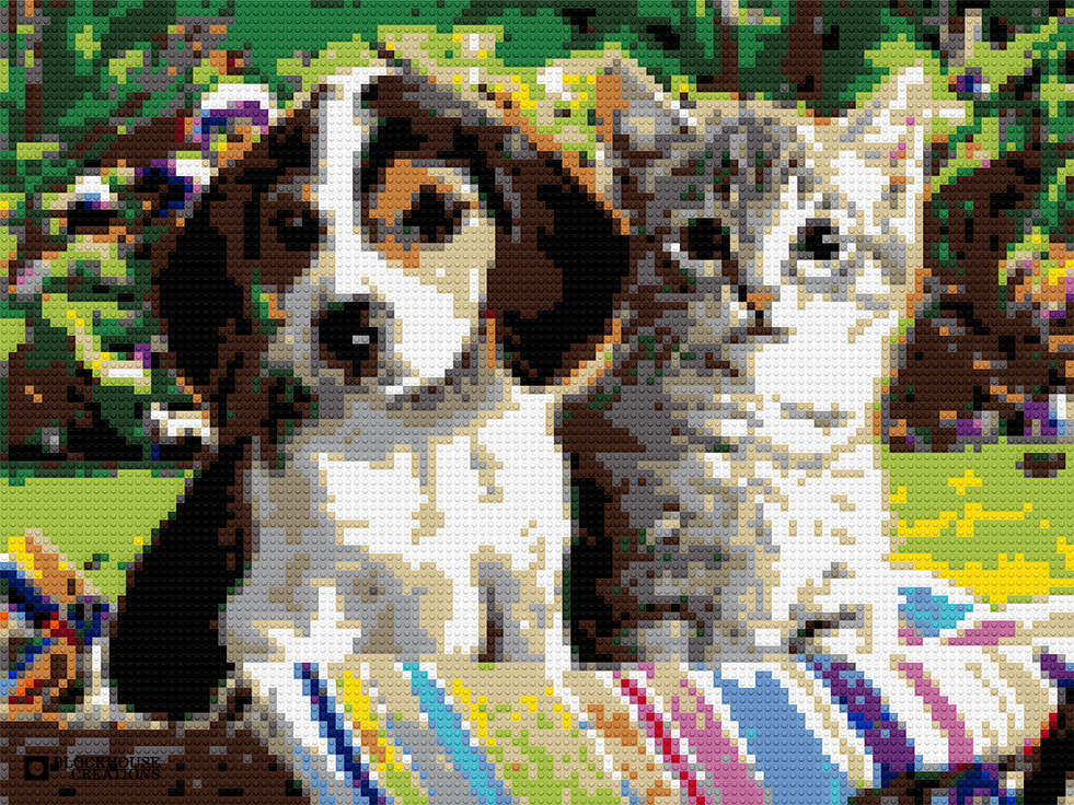 100 Days of Mosaics – Day 89 – Puppy and Kitty
