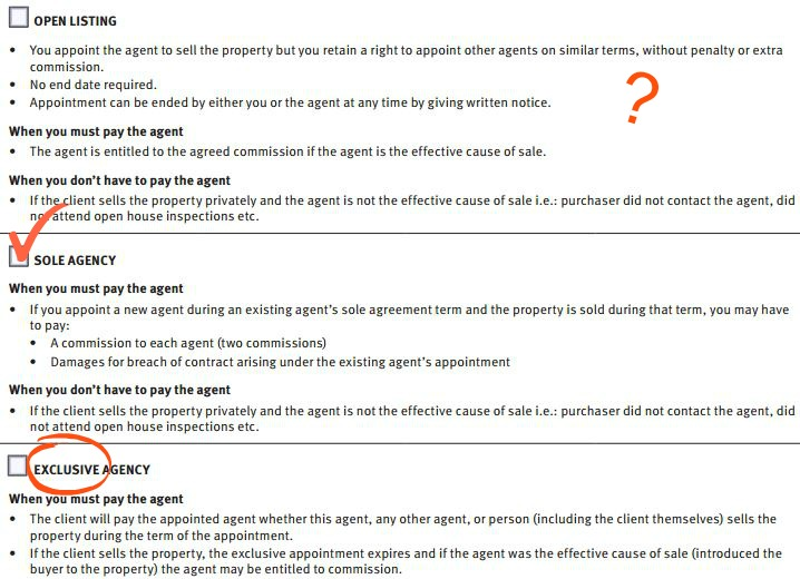 Comparing Agency Agreements - Blocksidge \ Ferguson - house sales contract