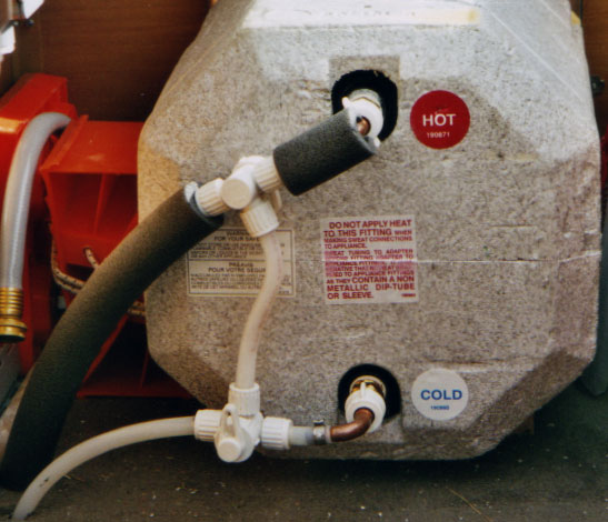 RV Hot Water Heater Bypass Valve and Drain Valve - RVshare