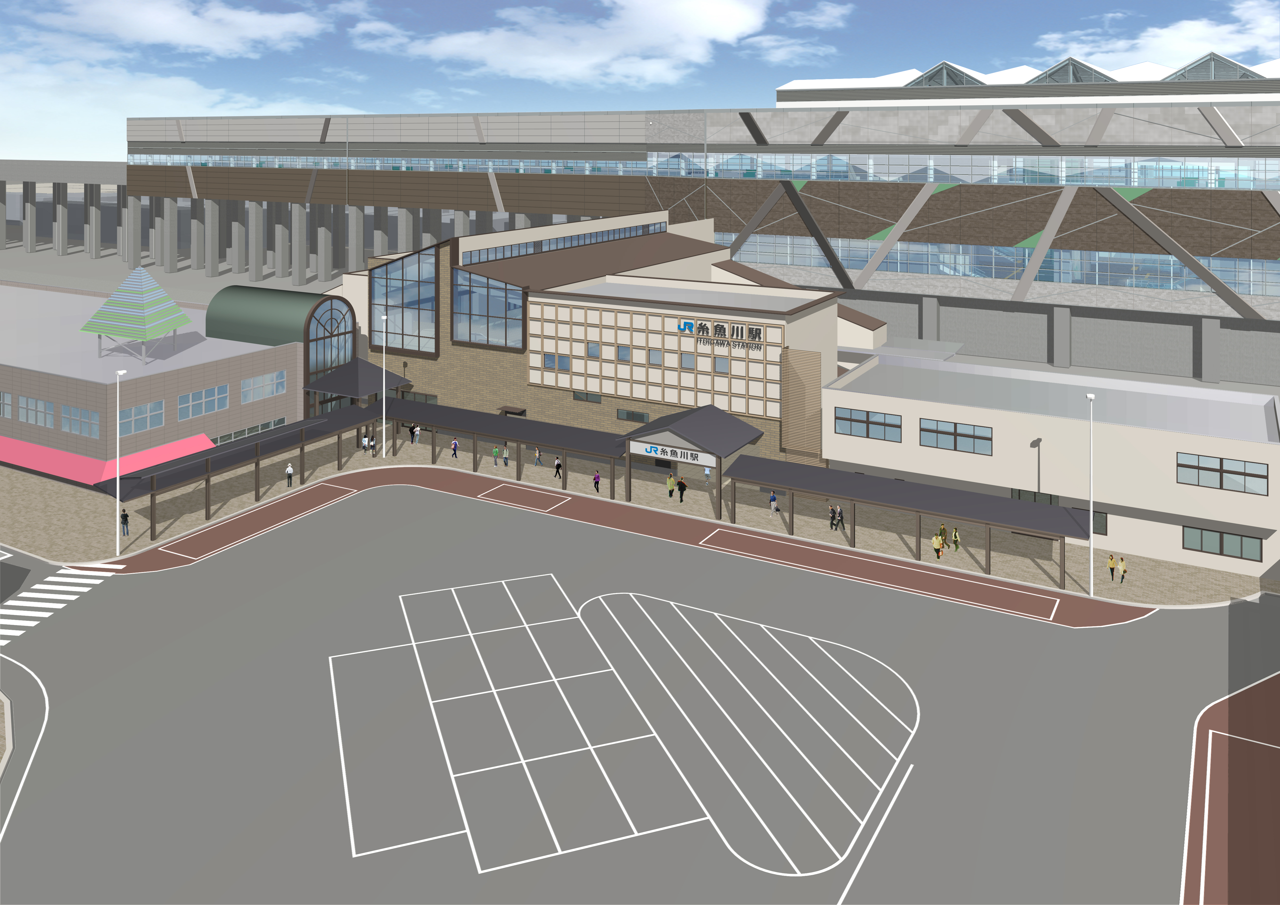 Artist's rendition of the completed North Gate Arcade.