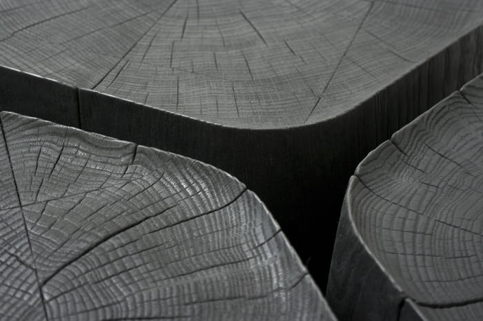 Table D Appoint Canapé Basalt Tables Basses En Bois Brûlé Par Normal Studio