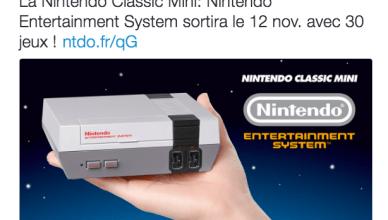 Un tweet annonçant la sortie de la Nintendo Classic Mini