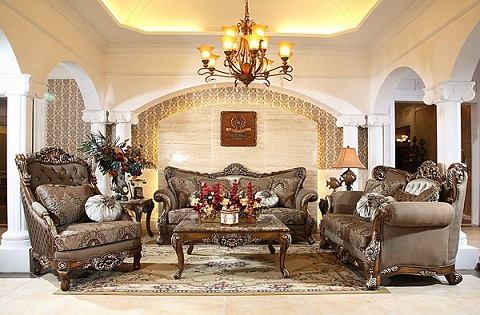 Antique Sofa Sets From AFD - Beautiful Replicas For An Elegant - 3 piece living room furniture set