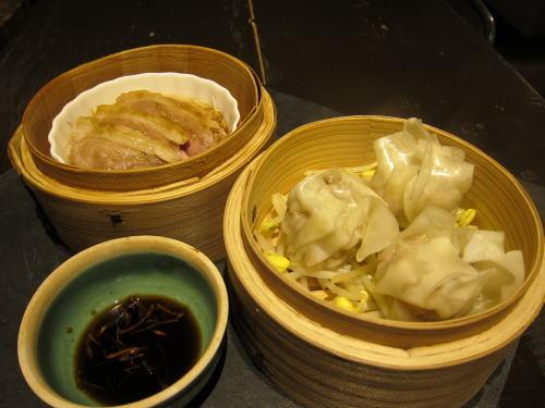 点心前菜2種(豚焼売・蒸し鴨)