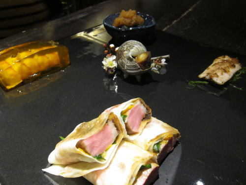 前菜4種(鴨・鰯・サザエ