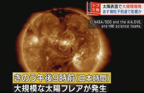 太陽 太陽フレア 黒点 電磁波 GPS 電子機器 通信障害