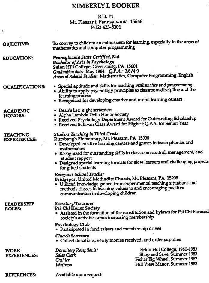 making a job resume - zrom