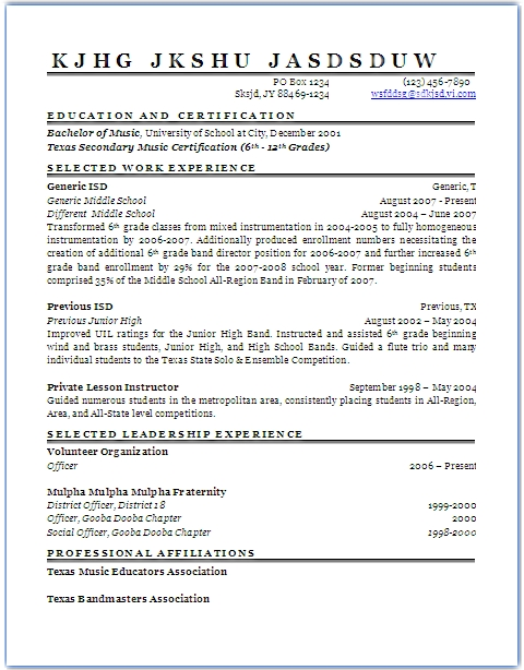 Resume - resumewizard