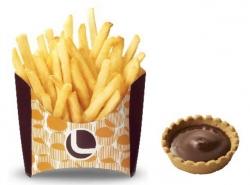 ロッテリア、ポテトをチョコに付けて食べる「つけポテ」発売