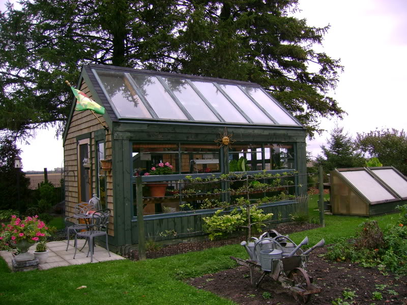 Afera Garden shed greenhouse combination plans