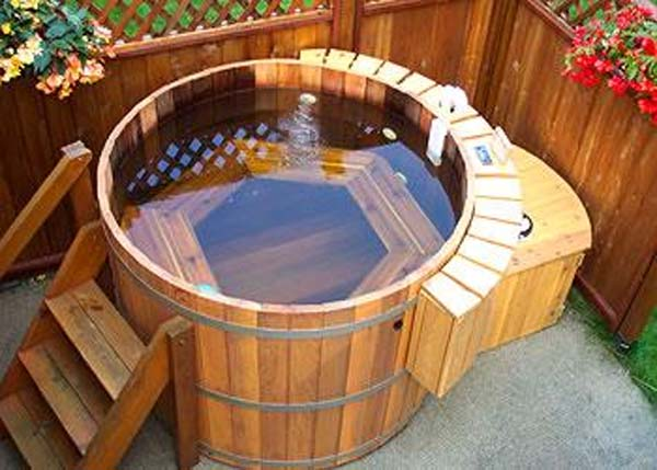 Wood Wooden Hot Tub Plans Blueprints Pdf Diy Download