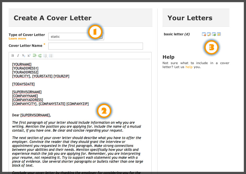 Best cover letter online – Online Application Cover Letter