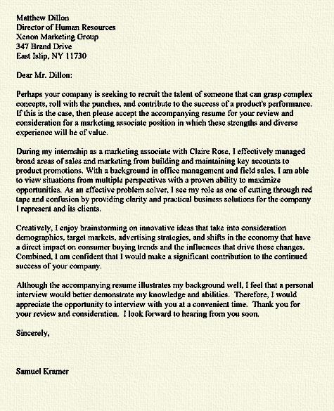 Investment strategist cover letter