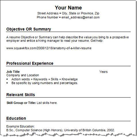 job resumes format - Amitdhull - resume format for job in word