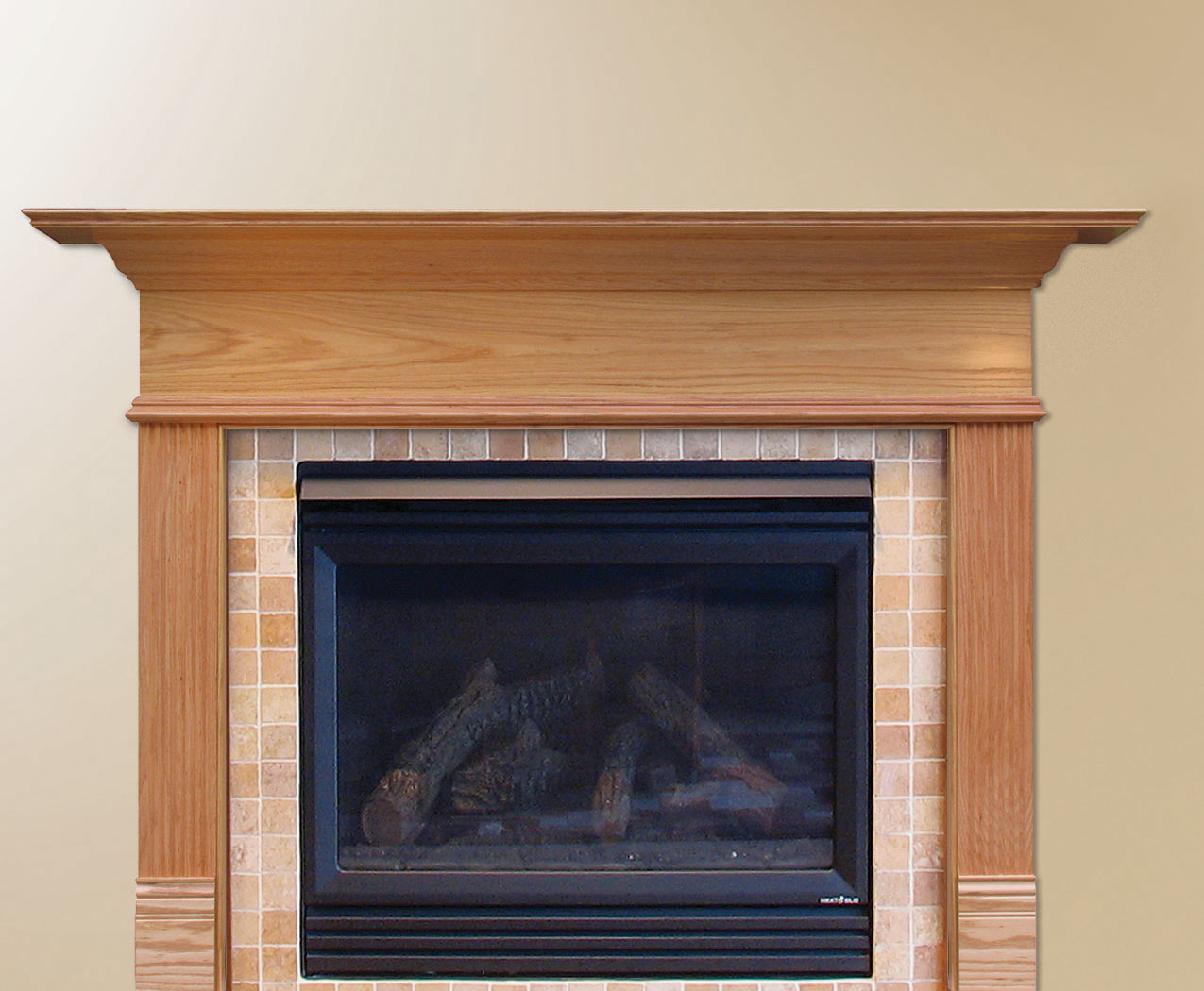 Wooden Fireplace Mantel Kit Easy Diy Woodworking