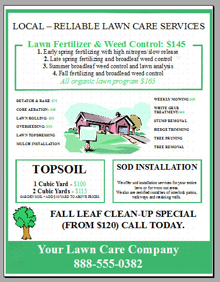 Ideas For Landscaping Business Flyers PDF