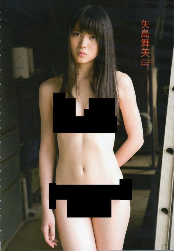 【画像】アイドルの水着を塗りつぶして全裸っぽくするゲスい遊びwwwwwwwwwwww