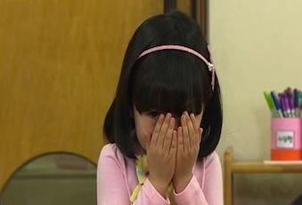 泥子は先生がいると私のそばで泣き始め、そのたびに私が先生に怒られた