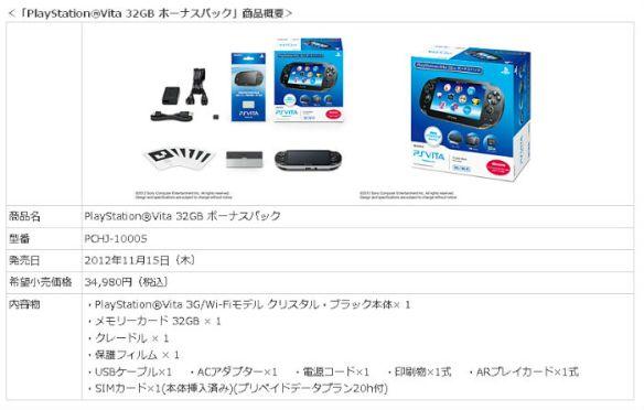 7000円以上お得なVitaパックが発売!