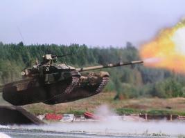 ぴょんぴょん飛びながらでも戦車砲を発射できる機能付き ロスケのT-90強すぎワロタ 10式歯が立たないorz