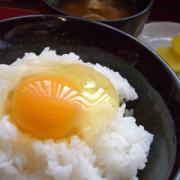 ご飯+卵黄+さしみ醤油+塩昆布+めんつゆ+鰹節