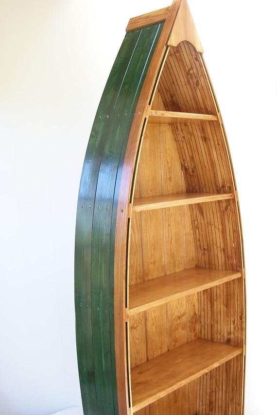 Free Access Wooden Boat Bookshelf Perahu Kayu