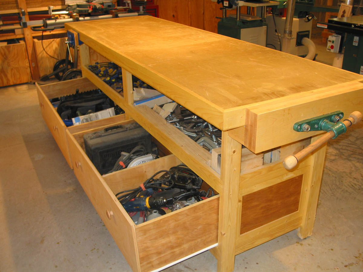 Wood Project Diy Garage Workbench With Drawers