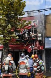 京大近くのラーメン店「新福菜館」で出火