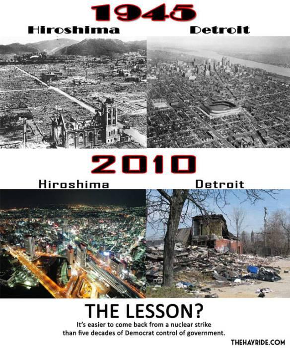 【画像】広島とデトロイトの比較写真wwwww