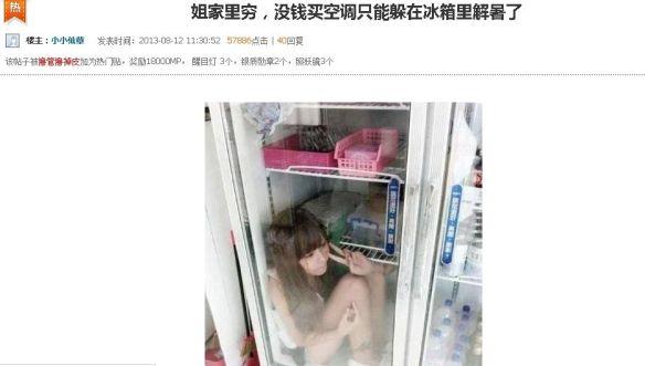 【悲報】日本の「冷蔵庫に入ってみた」 中国でも流行る