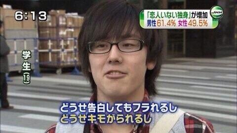 【悲報】童貞キモメンの顔面レベルが判明(画像あり)
