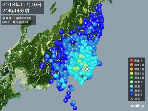 【悲報】今回の地震の範囲wwwwwwwwwマジ笑えないんだけど