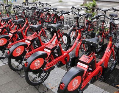 訪英中の舛添都知事、「人や環境にやさしい交通」を掲げ、東京五輪までに自転車の共用システム(シェアサイクル)の普及を目指す … 都内道路の自転車レーン延伸と合わせた環境整備へ