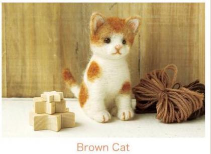"""""""羊毛フェルト製作キット""""で猫をつくってみた。かんたんだと言われてつくった。こんな事になってしまった。 (画像あり)"""