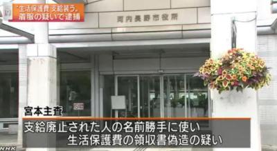 大阪・河内長野市の職員(43)、生活保護費を横領し逮捕 … 生活保護を支給したように見せかけ400万円を着服。2年間におよそ2億6000万円を引き出した疑いも
