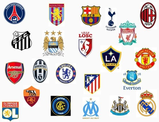 有名サッカークラブのロゴを電飾にしたお洒落なGIF(21枚)