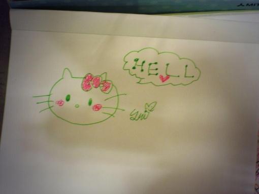 【アカンでこれは】 幼女が 「HELLO」 と書こうとした結果wwwwwwwwwww (画像あり)