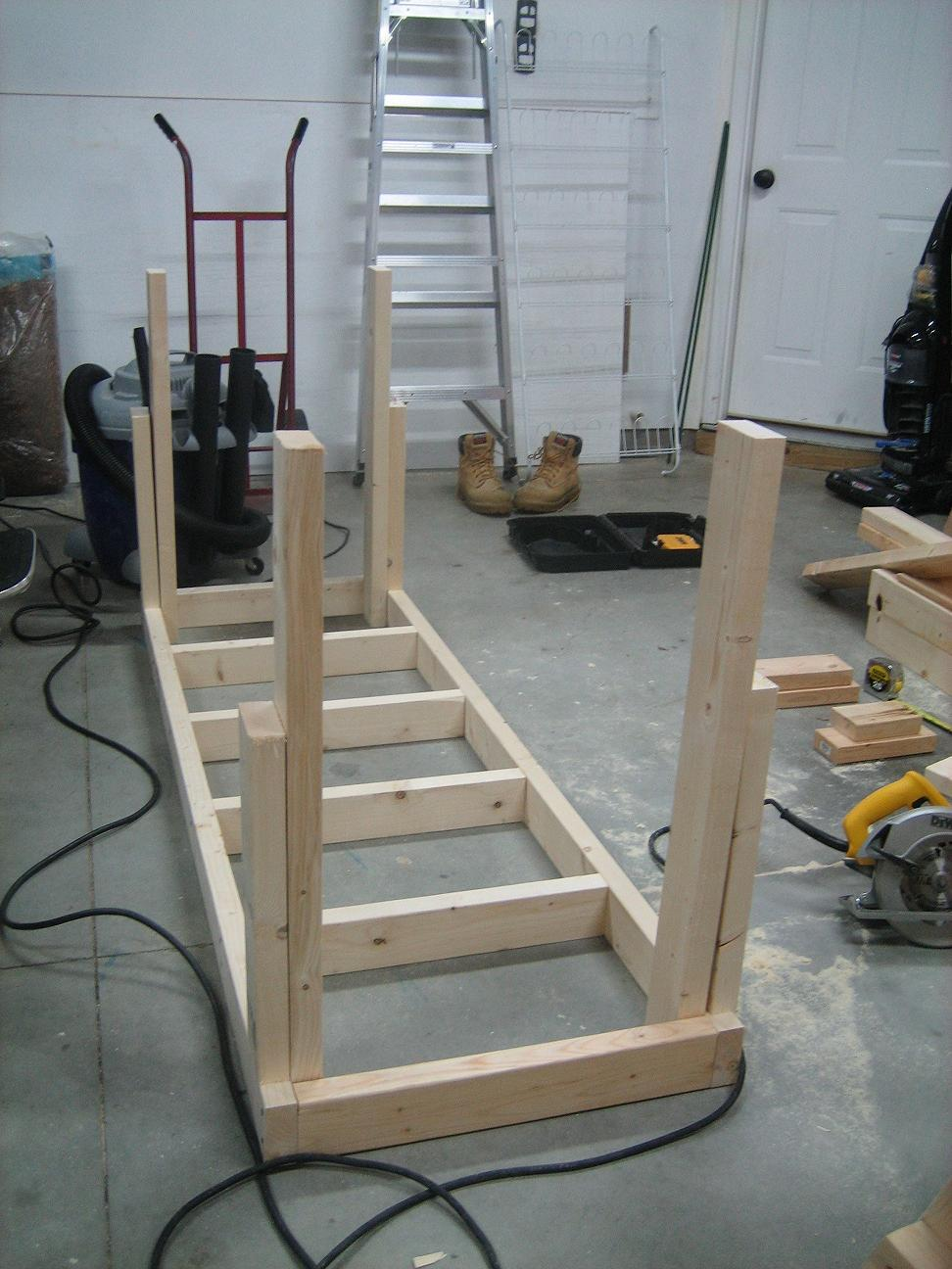Building Workbench Legs Pdf Woodworking