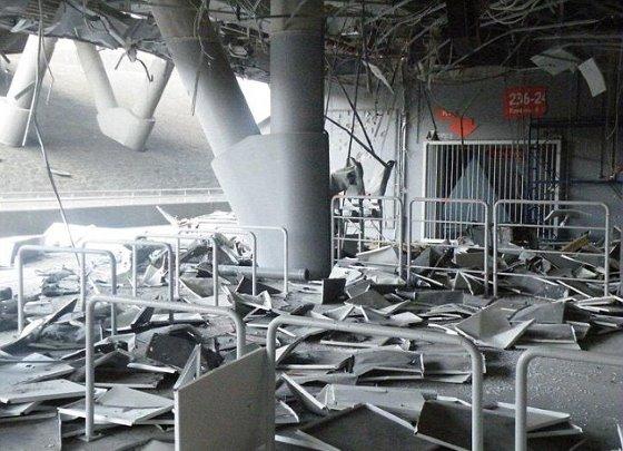 シャフタールのホームスタジアムが2度の砲撃 入口付近が少し壊れる