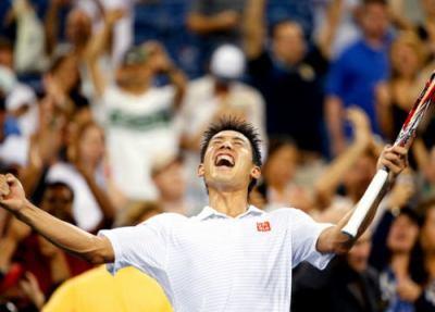 テニス、錦織圭(24)が全米オープンで日本選手として92年ぶりにベスト8進出 … 4時間越えの死闘を制しミロス・ラオニッチに勝利