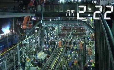 中国メディア、2013年の代官山駅ホーム地下化工事の記事を紹介 … 終電~始発までの4時間で工事終了させた記録動画に各国のエンジニアからも大きな賞賛